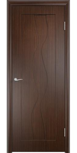 Межкомнатная дверь ПВХ Вираж ПГ венге