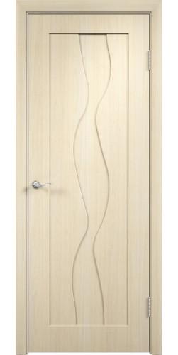 Дверь межкомнатная Вираж глухая цвет беленый дуб