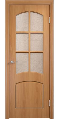 Дверь межкомнатная Кэрол со стеклом цвет миланский орех