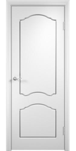 Дверь межкомнатная Лидия цвет белый