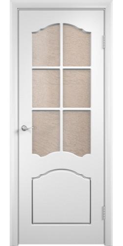 Дверь межкомнатная Лидия со стеклом цвет белый