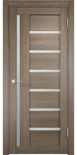 Межкомнатная дверь 3D со стеклом Берлин 2 дуб дымчатый