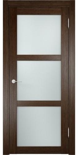 Межкомнатная дверь 3D со стеклом Баден 2 дуб табак