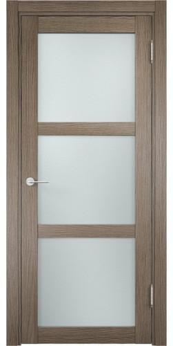 Межкомнатная дверь 3D со стеклом Баден 2 дуб дымчатый