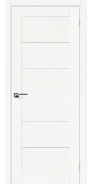 Межкомнатная дверь шпон Вуд Модерн-21 Whitey без стекла