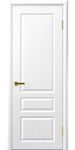 Межкомнатная дверь шпонированная Валенсия ПГ ясень жемчуг