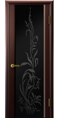 Дверь межкомнатная шпонированная со стеклом Эксклюзив 2 венге