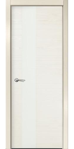 Дверь межкомнатная шпонированная ID HL со стеклом цвет бьянко