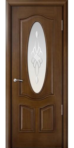 Межкомнатная дверь шпонированная со стеклом Барселона дуб натуральный