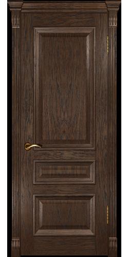 Дверь межкомнатная шпонированная глухая Фараон 2 мореный дуб темный