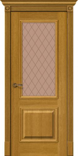 Дверь шпонированная со стеклом Вуд классик 13 цвет natur oak