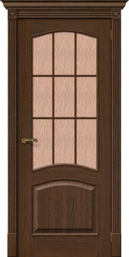 Дверь шпонированная со стеклом Вуд классик 33 цвет golden oak