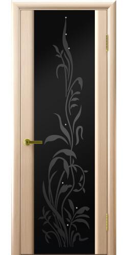 Дверь межкомнатная шпонированная со стеклом Эксклюзив 2 беленый дуб