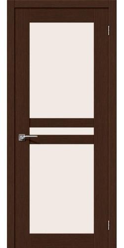 Межкомнатная дверь шпонированная со стеклом Евро 24 венге