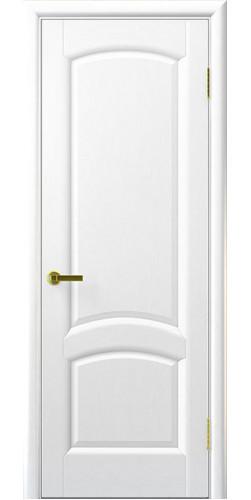 Дверь межкомнатная шпонированная Лаура глухая цвет ясень жемчуг