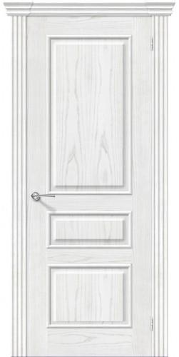 Дверь шпонированная глухая Сорренто цвет жемчуг