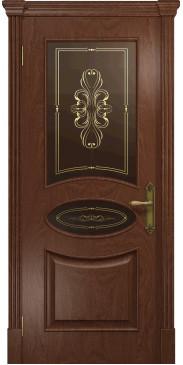 Межкомнатная дверь Санремо ДО красное дерево
