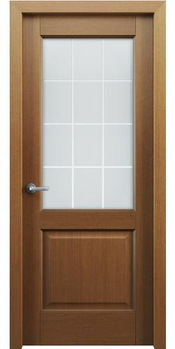 Дверь шпонированная со стеклом Классик 102 цвет орех
