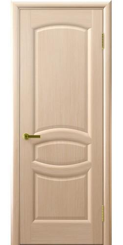 Дверь межкомнатная шпонированная глухая Анастасия беленый дуб