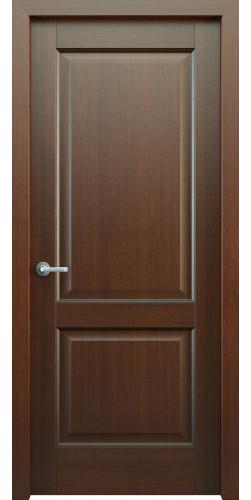 Дверь шпонированная глухая Классик 102 цвет венге