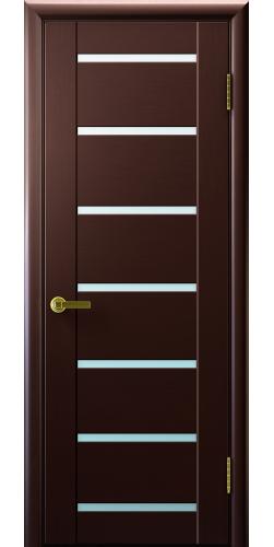 Дверь межкомнатная шпонированная со стеклом Нео 7 венге