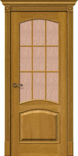 Дверь шпонированная со стеклом Вуд классик 33 цвет natur oak