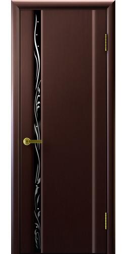 Дверь межкомнатная шпонированная со стеклом Эксклюзив 1 венге