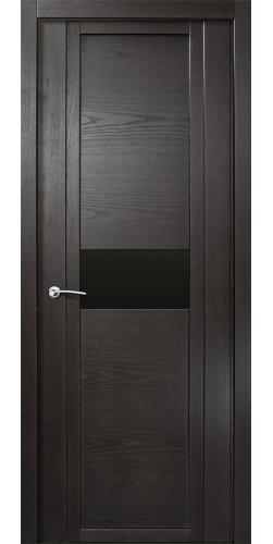 Межкомнатная дверь шпонированная со стеклом QDO H ясень винтаж