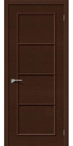 Межкомнатная дверь шпонированная Евро 40 ПГ венге