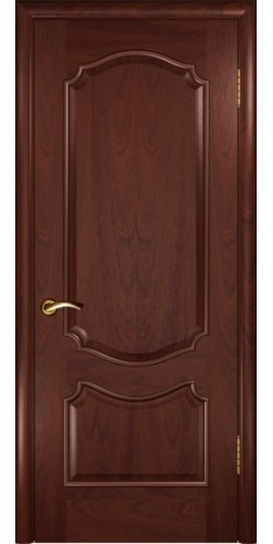 Дверь межкомнатная шпонированная глухая Венеция цвет красное дерево