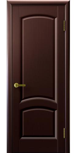 Дверь межкомнатная шпонированная глухая Лаура венге