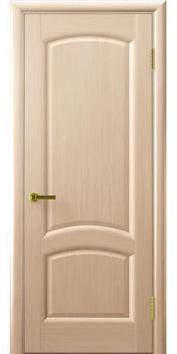 Межкомнатная дверь шпонированная Лаура ПГ беленый дуб