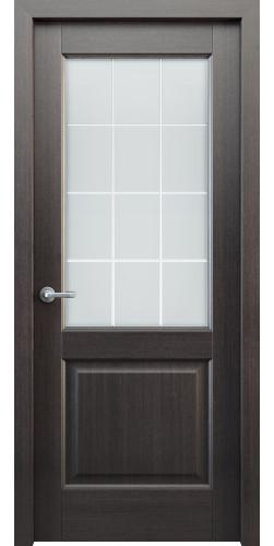 Дверь шпонированная со стеклом Классик 102 цвет венге