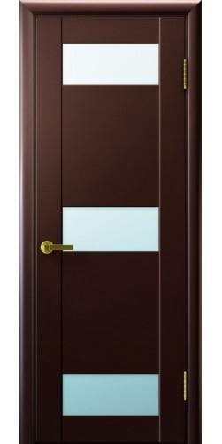 Дверь межкомнатная шпонированная со стеклом Нео 3 венге