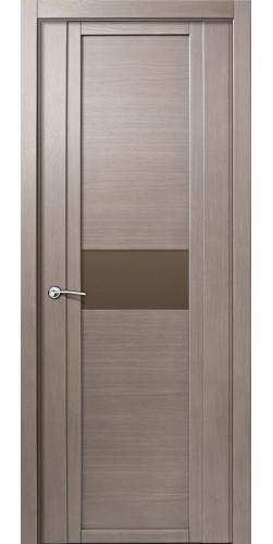 Дверь межкомнатная шпонированная QDO H со стеклом цвет  дуб грейвуд