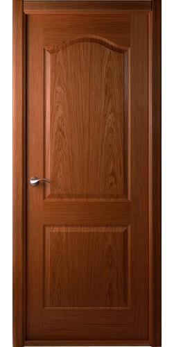 Дверь шпонированная глухая Капричеза орех