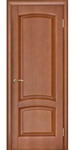 Дверь межкомнатная шпонированная глухая Лаура темный анегри