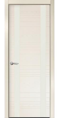 Межкомнатная дверь шпонированная со стеклом ID D бьянко