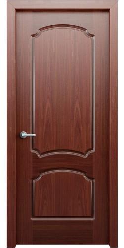 Межкомнатная дверь шпонированная Фламенко ПГ красное дерево