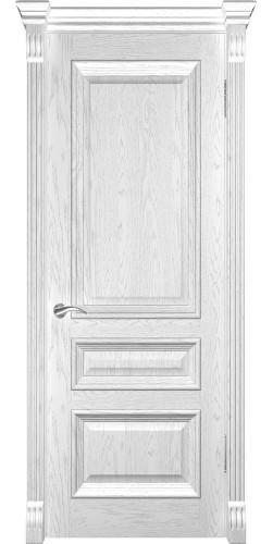Межкомнатная дверь шпонированная Фараон 2 ПГ дуб белая эмаль