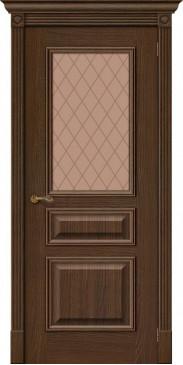Межкомнатная дверь шпонированная Вуд классик 15.1 golden oak со стеклом