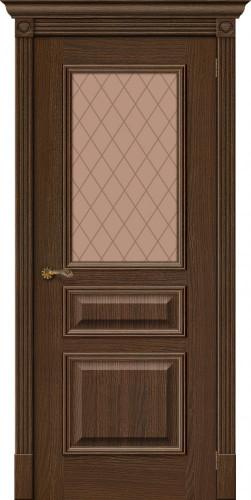 Межкомнатная дверь шпонированная со стеклом Вуд классик 15.1 golden oak