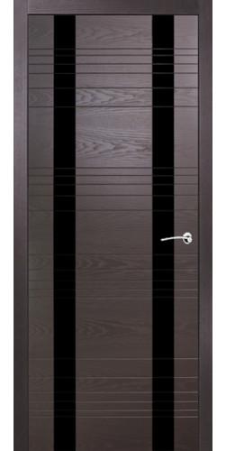 Дверь межкомнатная шпонированная ID D со стеклом цвет гриджио