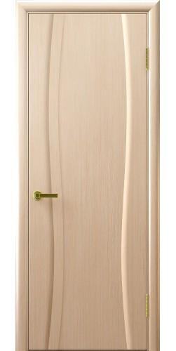 Межкомнатная дверь шпонированная Диадема 1 ПГ беленый дуб