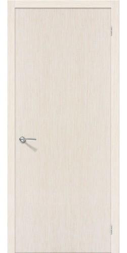 Межкомнатная дверь шпонированная Евро 023 ПГ беленый дуб