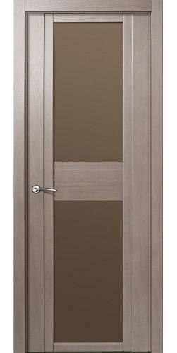Межкомнатная дверь шпонированная со стеклом QDO D дуб грейвуд