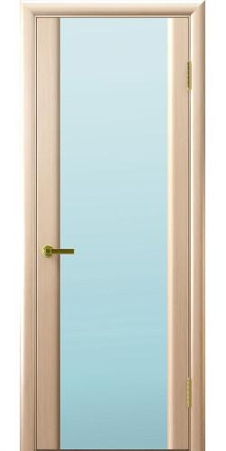 Межкомнатная дверь шпонированная со стеклом Техно 3 триплекс беленый дуб
