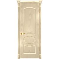 Шпонированная межкомнатная дверь Грация слоновая кость без стекла