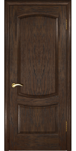 Дверь межкомнатная шпонированная глухая Лаура 2 мореный дуб темный