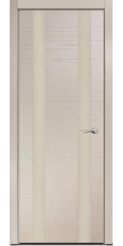 Дверь межкомнатная шпонированная ID D со стеклом цвет капучино